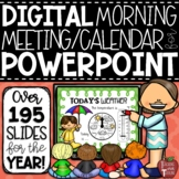 Morning Meeting Calendar Math Lessons for the Smartboard {