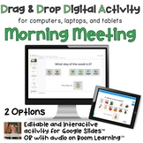 Digital Morning Meeting Calendar Time Interactive Activity for Special Ed