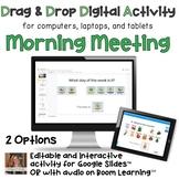 Digital Morning Meeting Calendar Time Interactive Activity