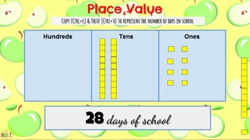 Morning Meeting & Calendar Time with Math & Literacy Components Apple Theme