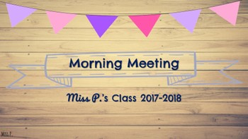 Morning Meeting & Calendar Time with Math & Literacy Components Barn Wood Theme
