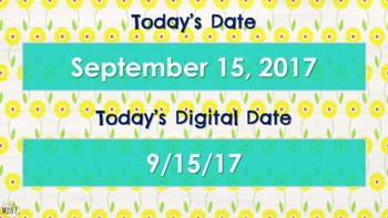 Morning Meeting & Calendar Time with Math & Literacy Components Floral Theme