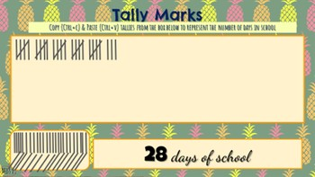 Morning Meeting & Calendar Time with Math & Literacy Components  Pineapple Theme