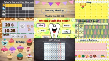 *THEME BUNDLE* Morning Meeting & Calendar Time with Math & Literacy Components