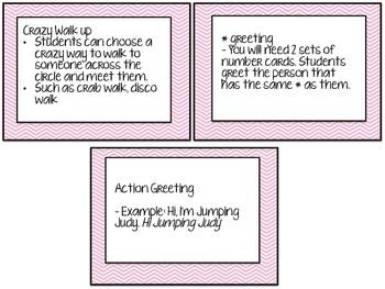 Morning Meeting Cards