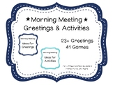 Morning Meeting Cards for Greetings and Activities