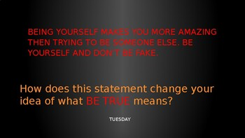 Morning Meeting: Character Building, Be Statements