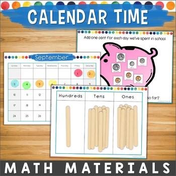 Morning Meeting/ Circle Time Money & Math Materials & Calendar