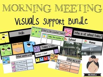 Morning Meeting/Circle Visual Support #spedprepsummer1 #spedprep