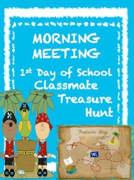 Morning Meeting-Classmate Treasure Hunt