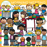 School Kids Morning Meeting Clip Art {Whimsy Clips School Clip Art}