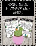 Morning Meeting & Community Circle Agendas