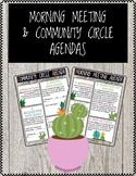 Morning Meeting & Community Circle Agendas