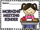 Morning Meeting Companion Binder