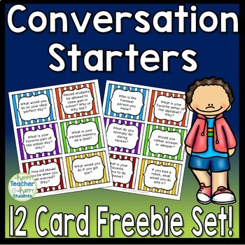 Morning Meeting Conversation Starters: 12 FREE Morning Meeting Questions