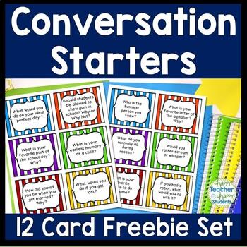 Morning Meeting Conversation Starters - 12 FREE Morning Me