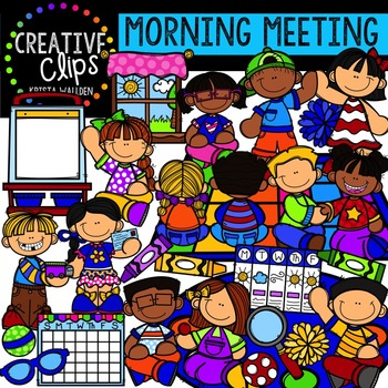 Morning Meeting {Creative Clips Digital Clipart}