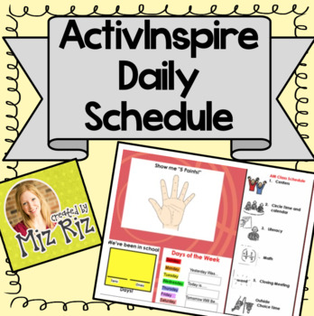 Morning Meeting Daily Schedule for ActivInspire!