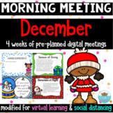 Morning Meeting December *Greetings, Sharing, Activities &