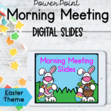 Morning Meeting Digital Slides | Easter Theme