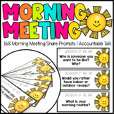 Morning Meeting Discussion Cards   Conversation Cards   Qu