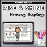 Morning Meeting Displays