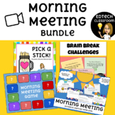Morning Meeting Distance Learning Bundle | Zoom and Google Meet
