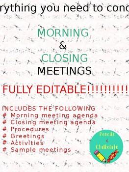 Morning Meeting EDITABLE