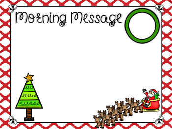 Morning Meeting Editable Templates for Christmas