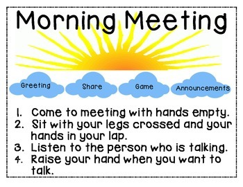 Morning Meeting Expectations