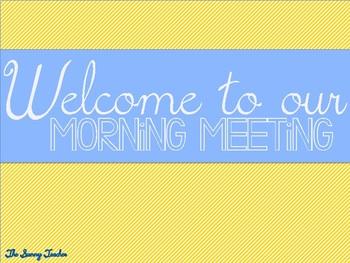 Morning Meeting Freebie