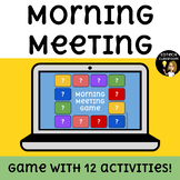Morning Meeting Game (12 Activities!) | Distance Learning