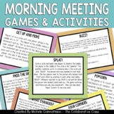 Morning Meeting Games & Activities for Upper Elementary