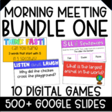 Morning Meeting Games and Activities   Digital BUNDLE ONE