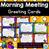 Morning Meeting Greeting Cards