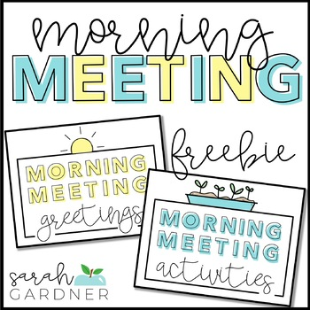 Morning Meeting Greetings Activities By Sarah Gardner Tpt