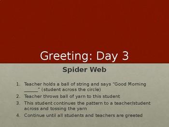 Morning Meeting Greeting Slideshow
