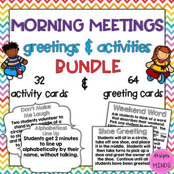 Morning Meeting- Greetings & Activities Bundle