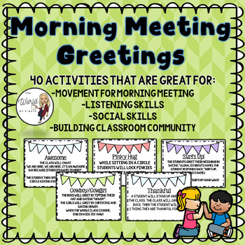 Morning Meeting Greetings to Build Classroom Community