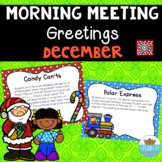 Morning Meeting Greetings Cards ~December & Holidays Dista