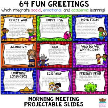 Morning Meeting Greetings Digital Slides Distance Learning
