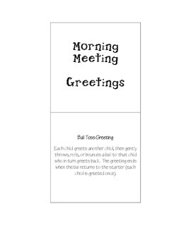 Morning Meeting Greetings Flip Book