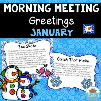 Morning Meeting Greetings ~ January