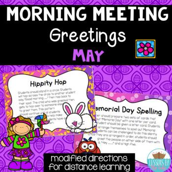Morning Meeting Greetings ~ May