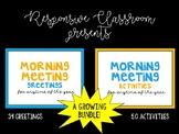 RESPONSIVE CLASSROOM Morning Meeting Cards {Growing Bundle}