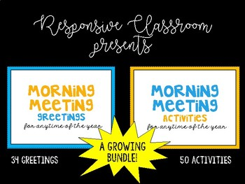 Morning Meeting Cards {Growing Bundle}