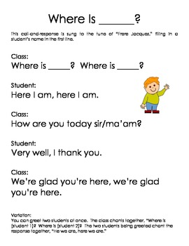 Morning Meeting Greetings for the Classroom