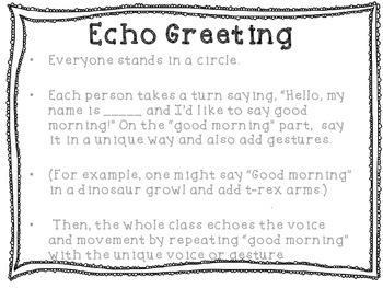Morning Meeting Greetings posters