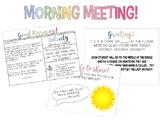 Morning Meeting- ALL YEAR LONG!