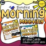 Morning Meeting Idea Cards Bundle